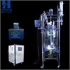 100L  双层玻璃反应器 夹套玻璃反应器