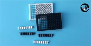 J09605百千生物全黑不透光96孔可拆卸酶标板96孔板可拆荧光检测微孔板8孔酶标条生产厂家
