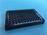 J09602百千生物96孔全黑酶标板测荧光专用微孔板黑色不透明酶标板TC处理灭菌含盖酶标板酶标仪通用
