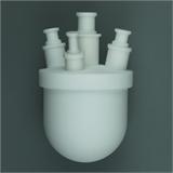 四氟圆底平底烧瓶单颈三颈四颈可定制